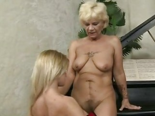 granny and cute legal age teenager having