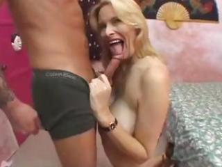 breasty older blonde acquires screwed hard and