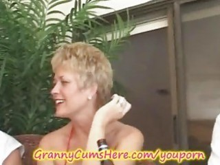 granny has a xxx swingers party and gazoo licking