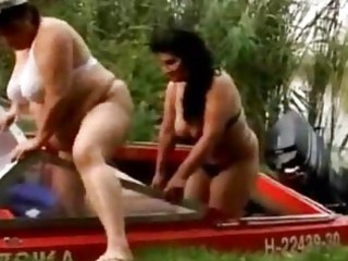 large older lesbos going wild outdoor