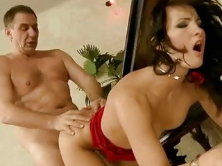 gorgeous hotty receives drilled by old man