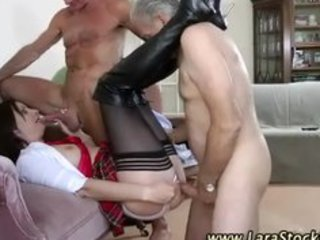 mature stocking brit orall-service and fingered