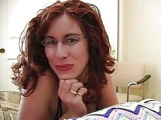 rod loving redhead milf with glasses gets facial