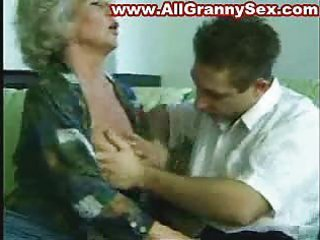 56 years old granny screwed