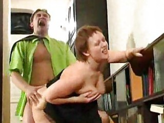 bulky older housewife fucked by horny guy