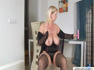 plastic pleasure with golden-haired breasty