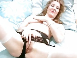 sexually excited mature in underware finger