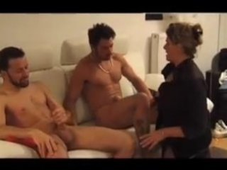 florence - french mature drilled by two lads