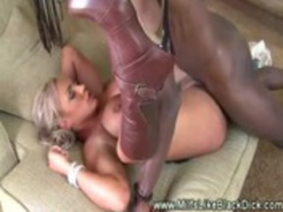white milf deeply pussyfucked by black ramrod