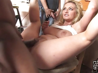 hawt wife screwed by dark gang in front of cuckold