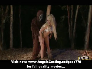 astonishing blonde fucked hard in different poses