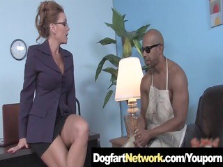 hot cougar takes a huge black dick