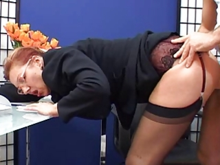 classy older secretary drilled