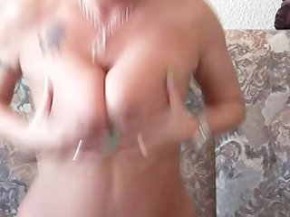 sexy milf finishes her masturbation session with