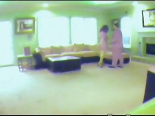 wife caught on hidden spy livecam