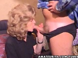 older non-professional wife homemade oral-service