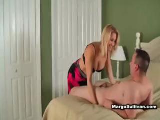sexy blonde cougar in underware seduces neighbour