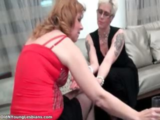 sexually excited aged blond lesbo woman part8