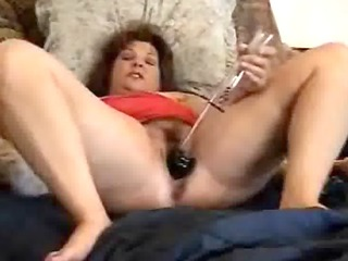 great masturbation of a pervert mature bitch.