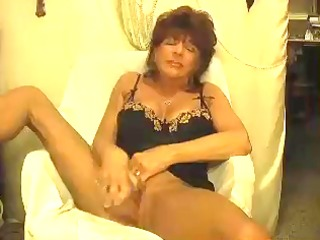 hawt older cougar solo teasing and toying