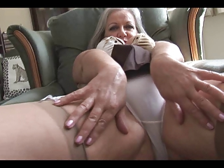 stylish breasty granny striptease
