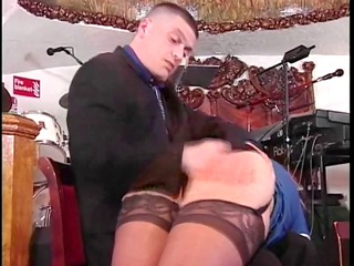 floozy in nylons gets a-hole spanked