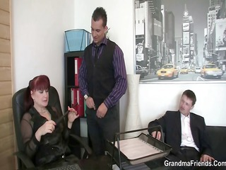 favourable chaps group sex business woman