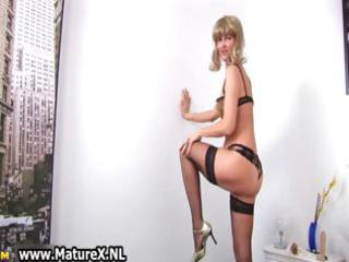 lustful aged housewife stripping part4