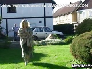 wife catches them fucking outdoor