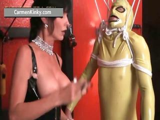 perverted carmen enjoys having fun in latex part6