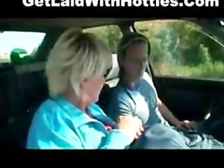 hot granny drilled hard in the car