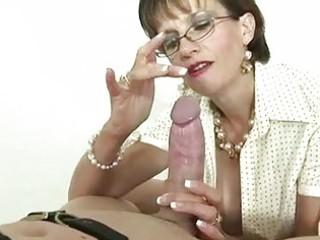 british older headmistress is fond of gags