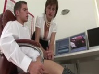 mature lady sonia gives cook jerking