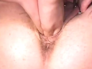 pierced granny with lots of rings in her love