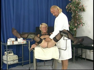 aged honey receives fingered by doctor - dbm clip