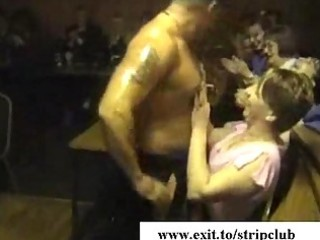 drunk wives attacking dongs in stripper bar