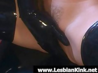 lesbos in rubber fingering juicy slits