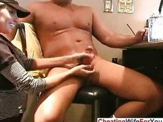 non-professional abode wife giving cook jerking