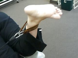 candid feet: aged exercise
