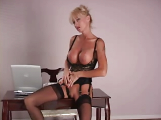 mature lady with big silicone bra buddies