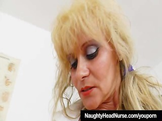 gyno-instrument in mom nurse piss hole