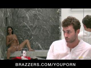 hot breasty ex-wife caught masturbating in shower