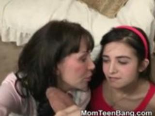 milf helps legal age teenager gal with her weenie