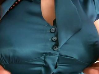 masturbation delights with breasty milfs in satin