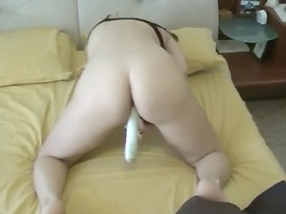 caught mama masturbating with sex toy at home