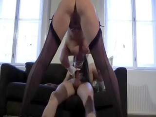 aged euro slut fucks in shoes and nylons