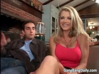 super hot golden-haired mother i with large milk