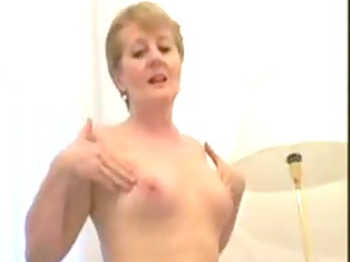 bulky little titted granny copulates