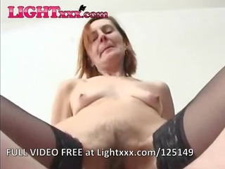 anal granny in lace top nylons bonks
