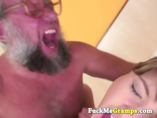 small beauty drilled by large grandpapa